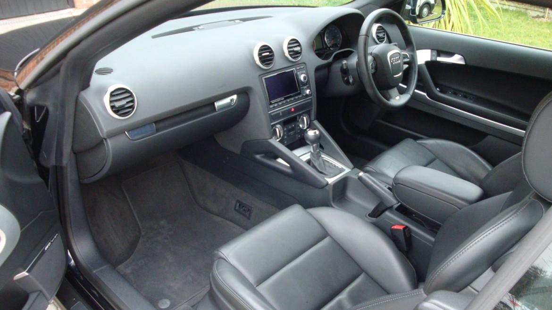 Audi A Cabrio Interior After Surrey Shine Car Valet - Audi car valet