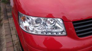 Volkswagen Transporter Camper Van cloudy headlight Surrey - After