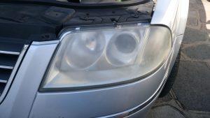 Volkswagen Passat cloudy headlight Surrey - Before